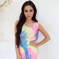 Summer Is Mine Playsuit- Rainbow