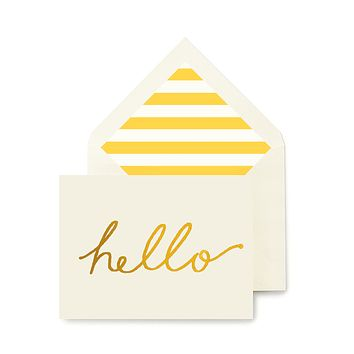 Hello Greeting Card, Single Folded Card or Boxed Set of 8