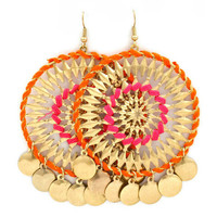 Pree Brulee - Arzoo Earrings - Pink & Orange