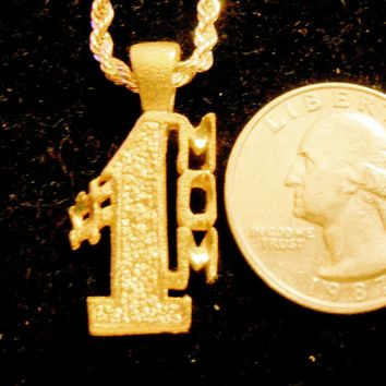 bling 14kt yellow gold plated #1 mom word saying pendant charm 24 inch rope chain hip hop trendy fashion necklace jewelry special