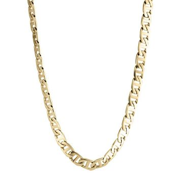 Stainless Steel Mariner Link Chain Necklace, 22""