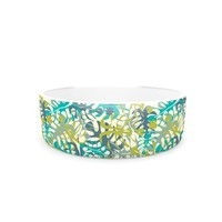 "Kess InHouse Julia Grifol ""Tropical Leaves"" Pet Bowl, 4.75-Inch"