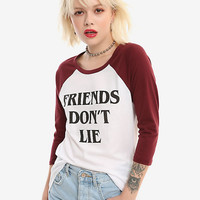 Stranger Things Friends Don't Lie Girls Raglan