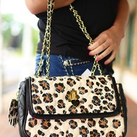 Be My Everything Handbag in Leopard by Betsey Johnson