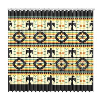 "Native American Birds Pattern Window Curtain 50""x96""(Two Piece)"