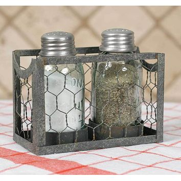 Chicken Wire Salt & Pepper Holder - Set of 2