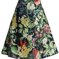 Tropical Paradise Printed A-line Skirt