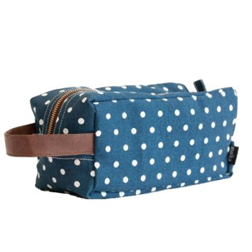Dots Navy Travel Case