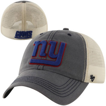 47 Brand New York Giants Caprock Canyon Flex Hat - Navy Blue/Natural