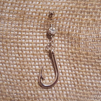 Fish Hook Belly Button Ring