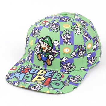 Trendy Winter Jacket Unisex Fashion Baseball Cap Super Mario Bros Snapback Hat Summer Casual Caps for Men Women AT_92_12