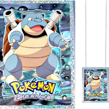 VINTAGE Pokemon Card Necklace - Blastoise
