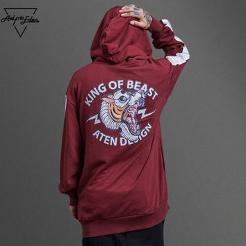 King of Beast Sweat Homme Hoodie Winter Pullover
