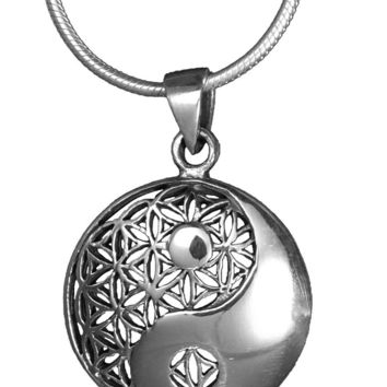 Ying and Yang Flower of Life Pendant (Small)