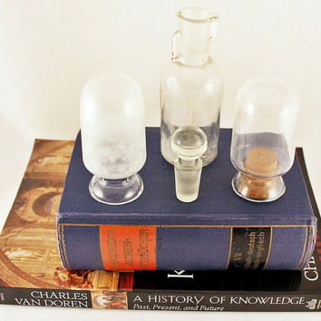 Antique Pharmacy Glass Bottle Collection