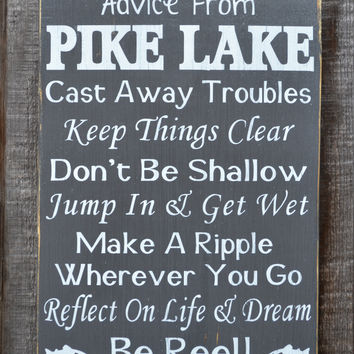 Lake House Decor Advice From A Lake Sign