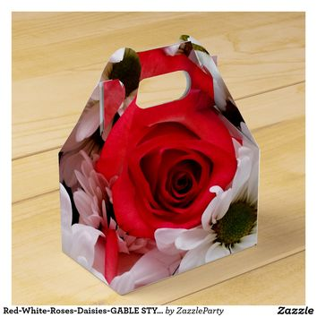 Red-White-Roses-Daisies-GABLE STYLE FAVOR BOX
