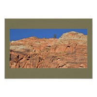 Sandstone Cliff Zion National Park Poster