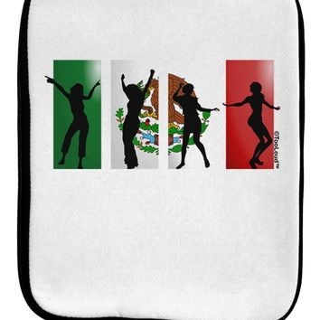 Mexican Flag - Dancing Silhouettes 9 x 11.5 Tablet  Sleeve by TooLoud