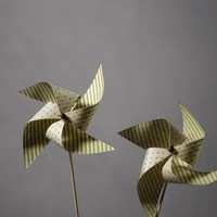 Striped Paper Pin Wheels in  the SHOP Decor Decorating at BHLDN
