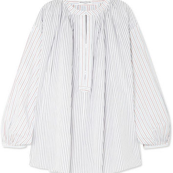Sonia Rykiel - Striped cotton-poplin blouse