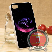 Take Me To Neverland - iPhone 4/4s/5/5S/5C Case - Samsung Galaxy S2/S3/S4 Case - Black or White