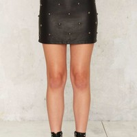 Nasty Gal Wudda Stud Vegan Leather Skirt