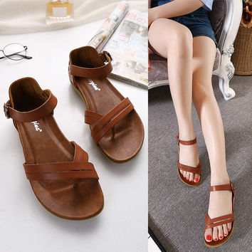 Summer Design Stylish Flat Casual Shoes Beach Sandals [6031702785]