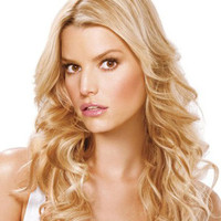 """18""""?Long Curly Layered Synthetic Wigs for Women Blonde"""