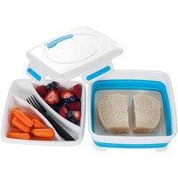 Classic Cuisine Square Expandable Lunch Box with Dividers - Walmart.com