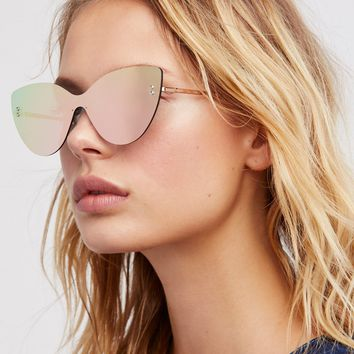 Free People Sneaky Kitty Shield Sunglasses