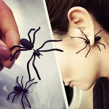 Black Spider Earring