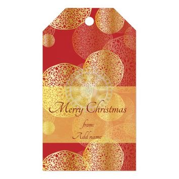 Golden Oriental Ornaments Pattern Gift Tags