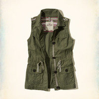 Patterned Military Vest