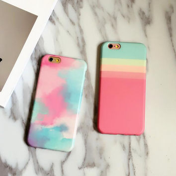 Cute girls in colorful world phone case for iPhone 7 7 plus iphone 6 6s 6 plus 6s plus + Nice gift box 080902