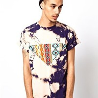 Reclaimed Vintage Paneled Tie-Dyed T-Shirt at asos.com