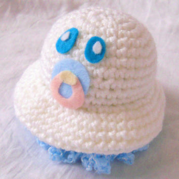 Cute Little Baby Scrubbles - Crochet Bath Poof On Top and Soft Tentacles Below