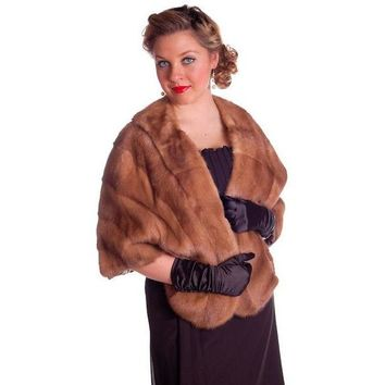 Vintage Mink Stole Light Autumn Haze Fur Stole Coronet Shops 1950