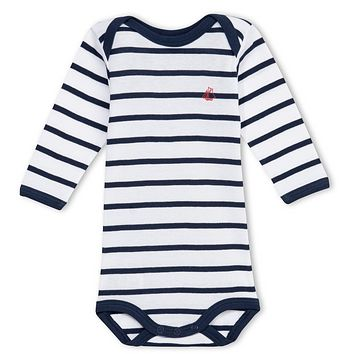 Petit Bateau Baby Boys Striped Long-Sleeved Romper