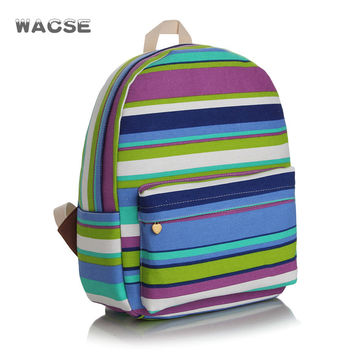 Travel Canvas Thicken Stripes Striped Backpack = 4887862276