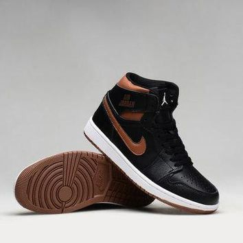 PEAPON3V Nike Air Jordan Retro High Rare Air Bronze Men Sports Basketball Shoes