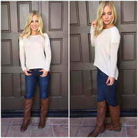 Creamsicle Knit Sweater Top