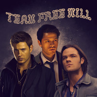 Team Free Will - Supernatural Art Print by KanaHyde