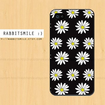 Daisy iphone case, iphone 5 case, Black Daisy iphone 4 case, iphone 5c case, iphone 5s case, iphone 4s case, cover, cases
