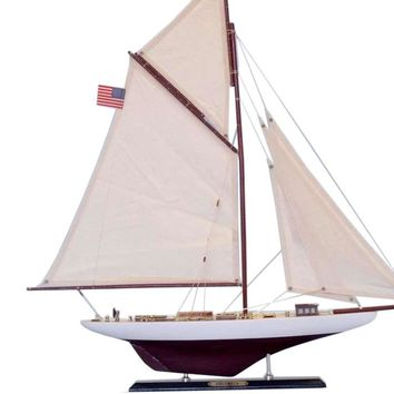 """Wooden Columbia Limited Model Sailboat 25"""""""