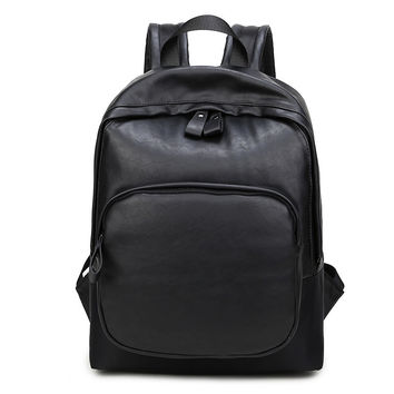 Back To School Hot Deal Comfort Stylish On Sale College Men Casual Vintage PU Leather Backpack [4915421700]