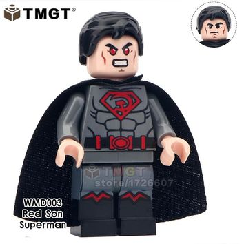TMGT Building Blocks 20pcs/lot Zombie Spiderman Black Superman Super Heroes Education Collection Brick Gift Toys For Children