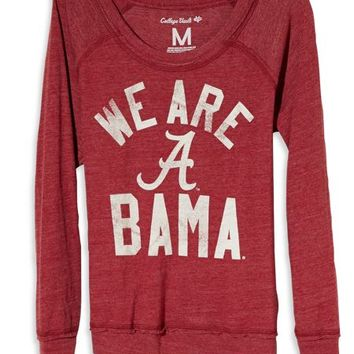 AEO Women's Alabama Vintage Long Sleeve T-shirt (Red)
