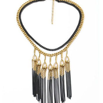 Two-Tone Fringe Bib