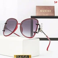 GUCCI Fashion New Polarized Leisure Sunscreen Travel Glasses Eyeglasses Women 5#